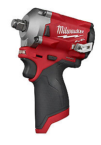 Milwaukee 2555 20 M12 Fuel Stubby 1 2 Impact Wrench Tool Only New