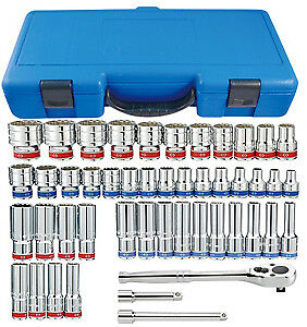 Calvan Alstart A4505cr 47 Piece 1 2 Drive Socket Set