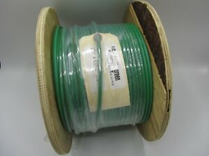 500 Feet Wood Spool Green Insulated Solid Copper Ground Wire 6 awg Tracer