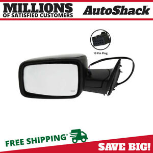 Side View Mirror Power Heated Black Driver For Dodge Ram 1500 2010 2012 2500 V8