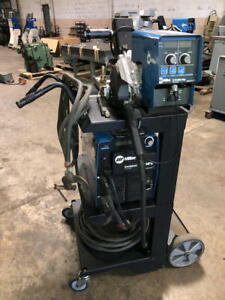 2013 Miller Invision 352 Mpa Mig Welder With Wire Feed And Mobile Cart 907431