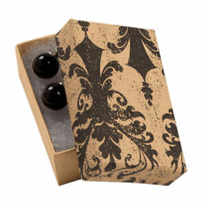 Jewelry Boxes 50 Tan Black Damask 2 1 2 X 1 1 2 X 7 8 Print Cotton Filled
