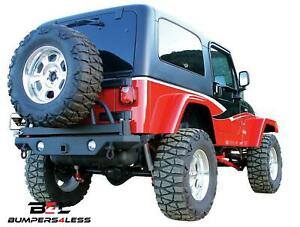 Rampage 78615 Rear Recovery Bumper For 1987 1995 Jeep Wrangler Yj