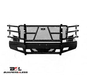 Ranch Hand Fsc081bl1 Summit Blk Pc Front Bumper For 07 10 Chevy 2500 Hd 3500 Hd