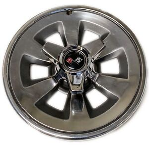1965 New Corvette Hubcaps With Spinners Set Of 4