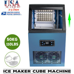 50kg Ice Maker Cube Stainlesssteel Bar Restaurant Automatic Freezer Bar Coffee