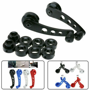 Pair Black Aluminum Car Truck Manual Door Window Winders Crank Handle Universal