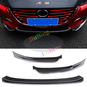 For Mazda 3 Axela 2017 Carbon Fiber Style Front Lower Bumper Protector Cover C
