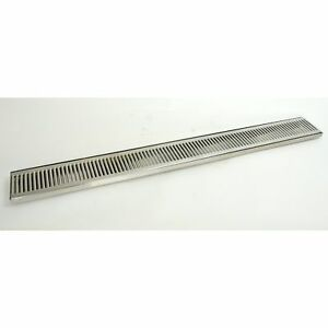 Micro Matic 45 Stainless Steel Flush Mount In counter Drip Tray With Drain