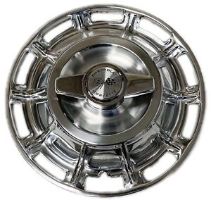 1959 1962 Corvette Hubcaps With Spinners Set Of 4