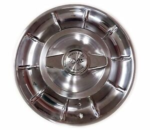 1956 1958 New Corvette Hubcaps With Spinners Set Of 4