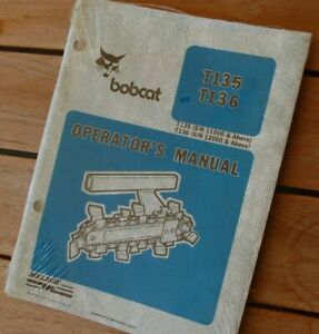 Bobcat T135 T136 Trencher Owner Operator Machine Specifications Manual Guide