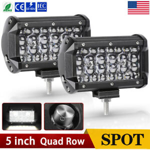 2pcs 5inch 168w Led Pods Light Bars Off Road Driving Spot Fog Lamp Truck Atv 4wd