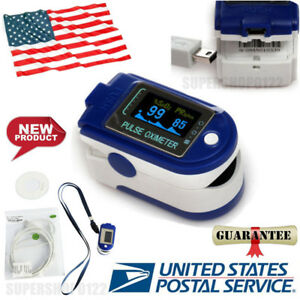 Usa Finger Pulse Oximeter blood Oxygen spo2 Monitor 24hour Recorder Usb Software