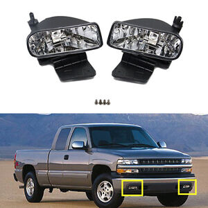 For Chevrolet Silverado 2000 2006 Front Bumper Fog Driving Lights Housing