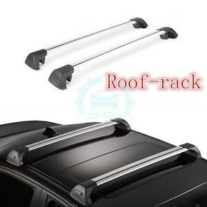 2pcs Silver Aluminum Baggage Holder Parcel Racks Fit For Ford Explorer 2013 16