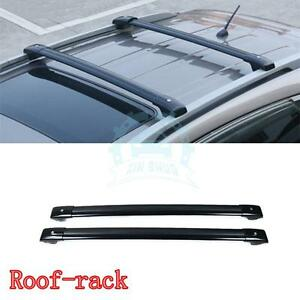 Black Aluminum Baggage Holder Roof Rack Bars Parts For Ford Explorer 2013 2016