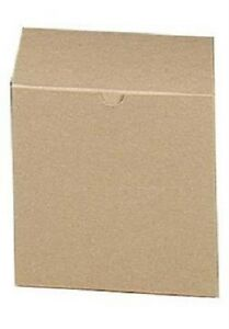 Boxes Gift 100 Kraft Tan 6 X 6 X 6 Cardboard Cup Saucer Box Card Board Retail