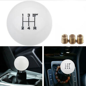 1set Gear Shift Knob Universal 5 Speed Round Ball Short Shifter Lever M10x1 5