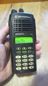 Motorola Mtx8250 128ch 800mhz Police Fire Two Way Radio Aah25uch6gb6an