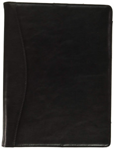 Icarryalls Leather Organizer Padfolio With 3 ring Binder Fits Letter size a4 No
