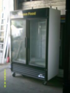 True 2 Door Glass Freezer