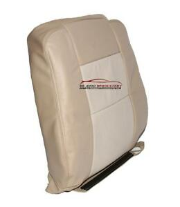 2006 Ford Explorer Eddie Bauer Driver Lean Back Leather Seat Cover 2 Tone Tan