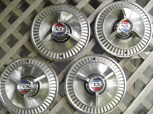 Four 1964 64 Ford Galaxie Xl 500 Hubcaps Wheel Covers Center Caps Fomoco Vintage