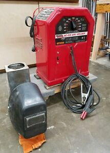 Lincoln Ac 225 Arc Welder With Mask helmet And Electrodes excellent Condition