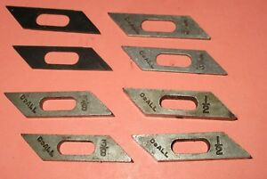Lot 8 Doall Saw Guide Inserts 1 2 3959 3 8 3960 3 16 4496 1 8 4497