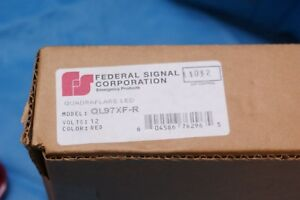 Federal Signal Ql97xf r Quadraflare Led Red Series E