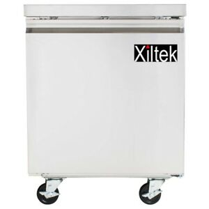 New Xiltek 27 One Stainless Steel Door Commercial Undercounter Refrigerator