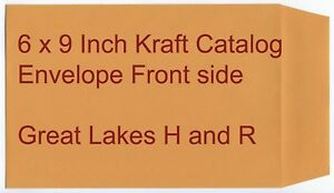 6 X 9 Inch Kraft Catalog And Clasp Style Envelopes