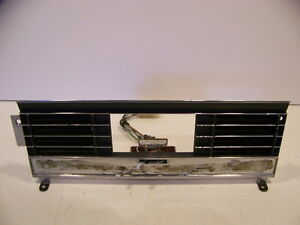 1968 Chrysler Imperial Heater Control Bezel W Switch Oem Lebaron Crown Coupe