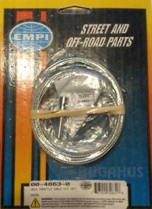 Vw Beetle Buggy Rail Trike Universal Accelerator Throttle Cable Free Ship