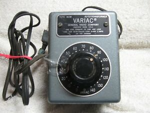 General Radio Company Variac Type W2m 2 Amps 0 To 140 Volts