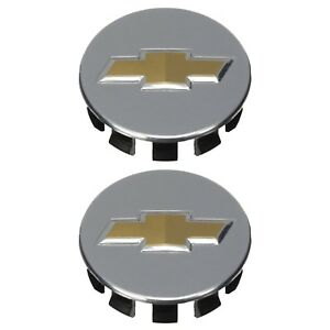 Oem New Wheel Center Cap Set Of 2 Aluminum W gold Bowtie 06 09 Cobalt 9598715