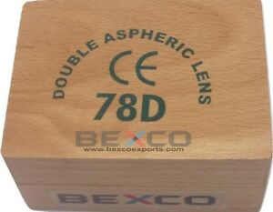 Best Brand Bexco 78 D 78d Double Aspheric Lens With Wood Case Dhl Shipping