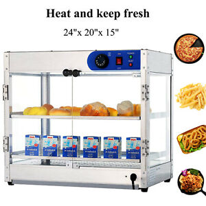 24 x20 x15 Countertop Commercial Food Pizza Heat Warmer Cabinet Display Case
