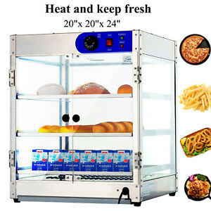 20 x20 x24 Countertop Commercial Food Pizza Heat Warmer Cabinet Display Case
