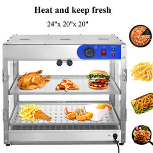 24 x20 x20 Countertop Commercial Food Pizza Heat Warmer Cabinet Display Case