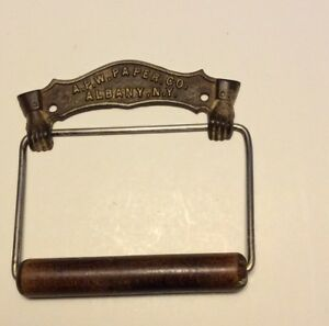 Antique 1884 Bathroom Toilet Paper Holder Apw Paper Company Albany Ny 2 Fists