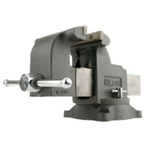 Wilton 63302 Shop Bench Vise Ws6 6 Jaw Width 6 Jaw Opening Swivel Base