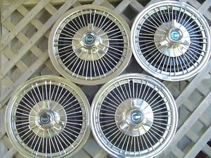 15 In 1966 1967 Ford Mustang Fairlane Galaxie Ltd Spinner Hubcaps Wheel Covers