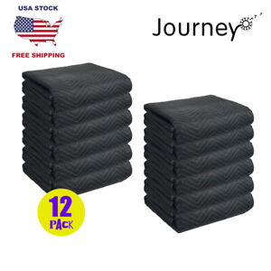 12 Pack Pro Deluxe Duty Moving Blankets Furniture Shipping Pads 72 x80
