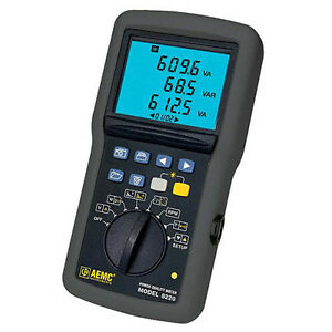 Aemc 8220 Power Quality Meter Measures Up To 660vrms Or Vdc