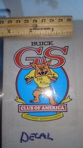 Gsca Gus Sticker Decal Official Reproduction Buick Gs Gsx