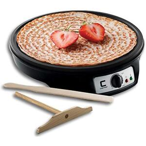 12 Electric Crepe Maker Griddle Temperature Control Non Stick Pancakes Homemade