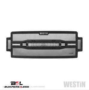 Westin 34 1055 Textur Black Steel Hdx Led Grille For 2017 2019 Ford F 250 F 350