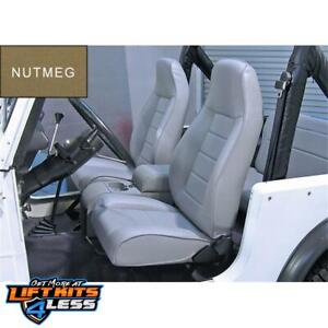 Rugged Ridge 13402 07 Nutmeg Factory Style Replacement Seat For 76 03 Jeep Cj 5